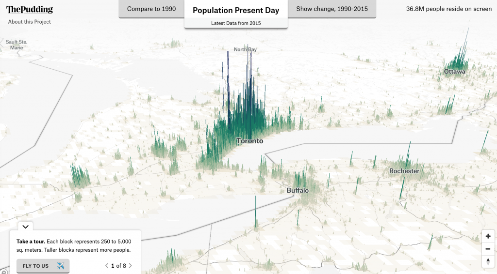 Human Terrain maps population data in 3D.